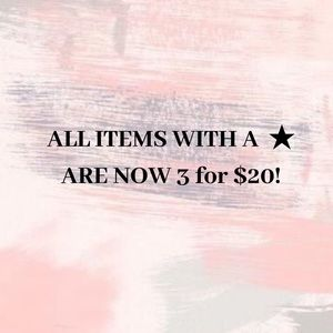 ★3 FOR $20